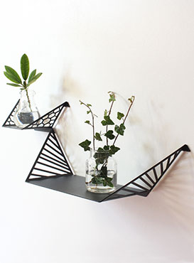 Two shelves. Small hex and large line shelve from by dyb.
