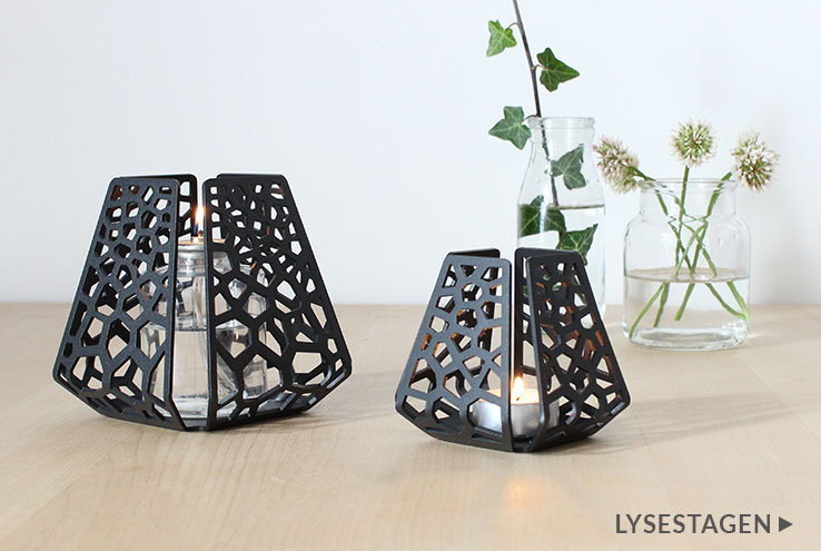Two candle holders with patterns from BY DYB