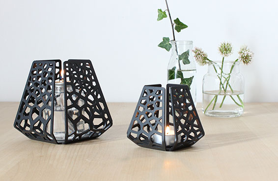 Two candle holders from BY DYB