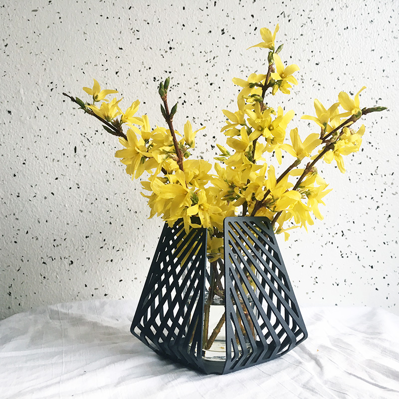 Candle Holder Used As A Vase By Dyb