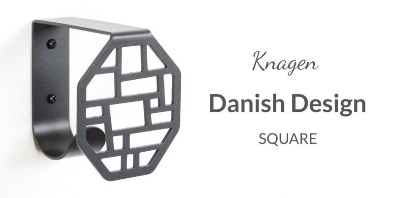 The wall hook, KNAGEN, from BY DYB in Square pattern