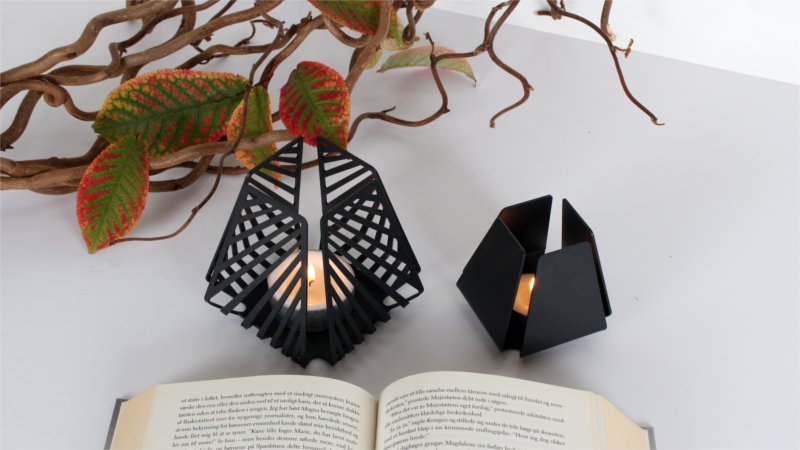 Candleholders for tealights – LYSESTAGEN from BY DYB in the patterns Line and Clean to create coziness