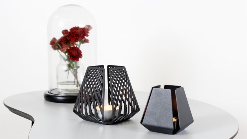 Design candleholders from BY DYB in the feminine style – LYSESTAGEN in the patterns Line and Clean