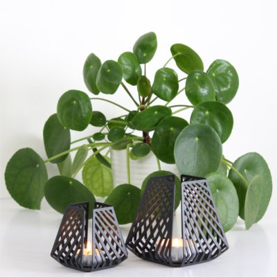 Design candleholders from BY DYB in the natural style – LYSESTAGEN both in the pattern Line