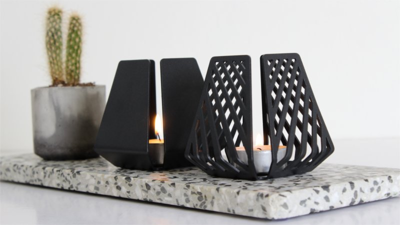 Design candleholders from BY DYB in the raw style – LYSESTAGEN in the patterns Clean and Line
