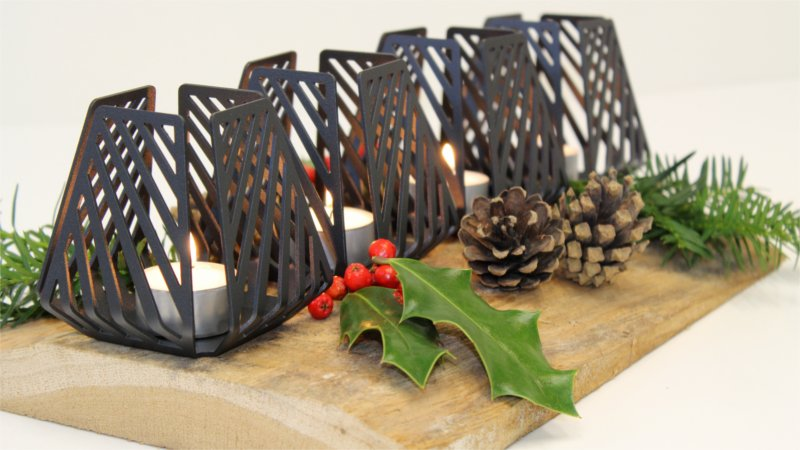 Nordic inspired advent wreath with four LYSESTAGEN Small Line from BY DYB