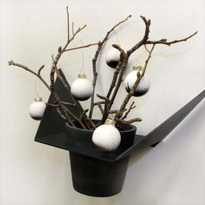 Christmas styling of your plant hanger from BY DYB – Splash effect: 5. The finished result