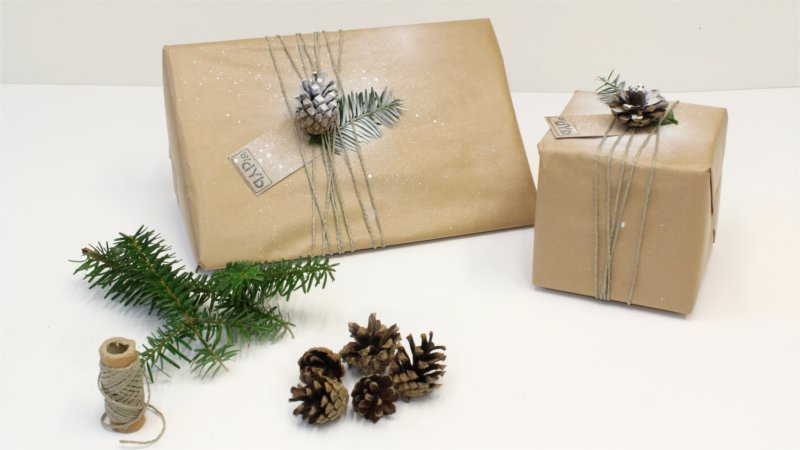 Inspiration for Christmas wrapping form BY DYB with a Nordic theme