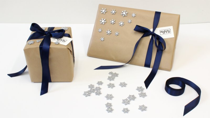 Inspiration for Christmas wrapping form BY DYB with a winter's night theme