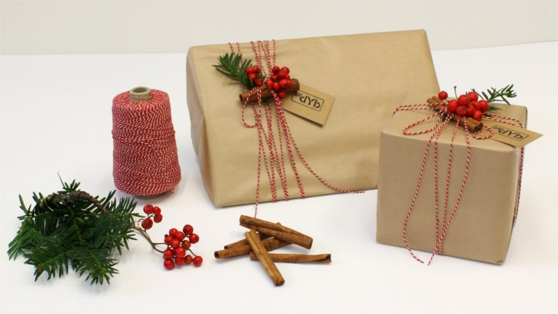 Inspiration for Christmas wrapping form BY DYB with a traditional theme