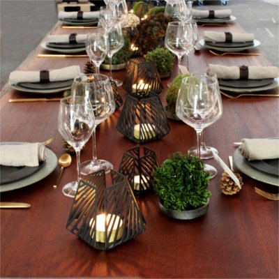 Inspiration for your Christmas table with BY DYB: Candle holders from BY DYB on the Christmas table