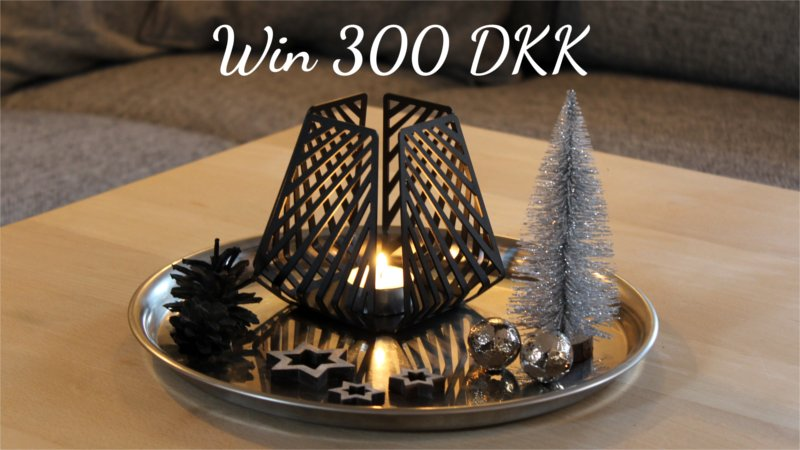 Christmas contest with BY DYB - LYSESTAGEN in Large in the pattern Line and the color Black Gray