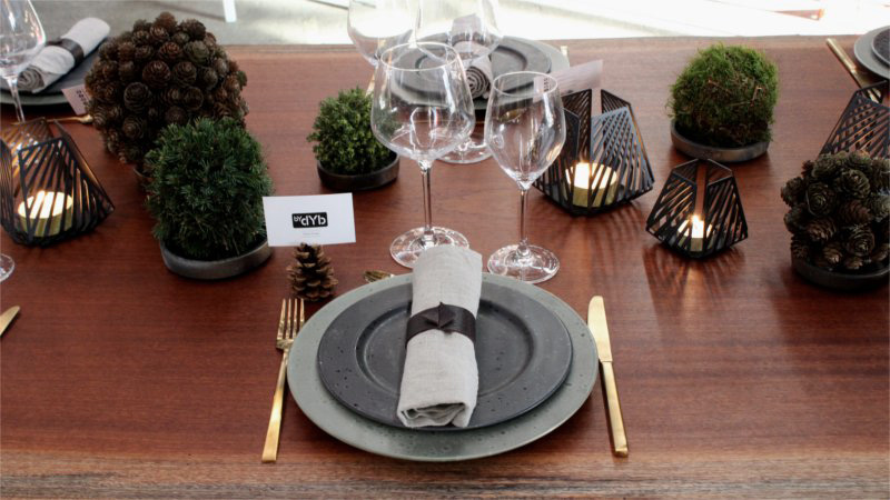 Inspiration for your Christmas table with BY DYB: Christmas table inspired by nature