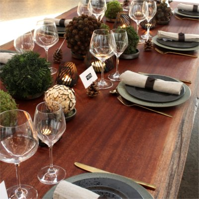 Inspiration for your Christmas table with BY DYB: Christmas table with elements from nature