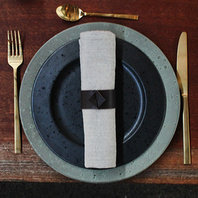 Inspiration for your Christmas table with BY DYB: Cutlery used for setting the Christmas table with
