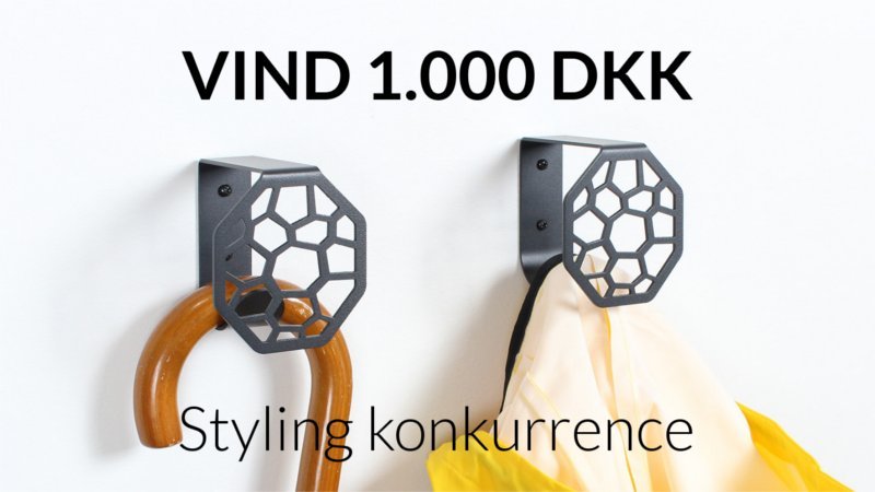 Styling konkurrence med BY DYB - Knagen hex